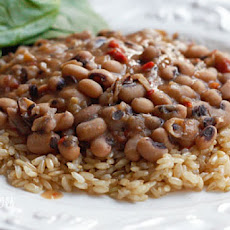Slow Cooked Black Eyed Peas with Ham