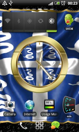 Martinique flag clocks
