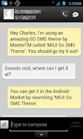 Screenshot of MIUI Go SMS Theme