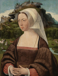 RIJKS: Jan Jansz Mostaert: Portrait of an Unknown Woman 1525
