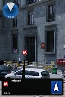 Screenshot of Milan Metro Augmented Reality