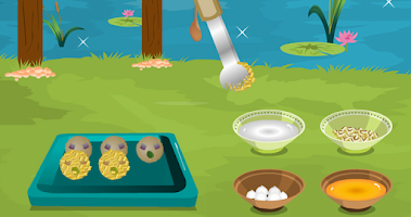 Screenshot of Risotto balls – cooking game