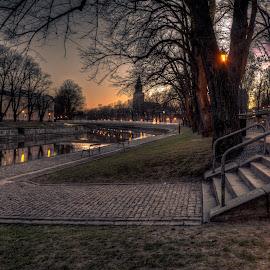 Daybreak by Bojan Bilas - City,  Street & Park  City Parks