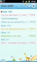 Screenshot of Wali SMS Doll Font plug-in