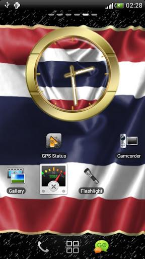 Thailand flag clocks