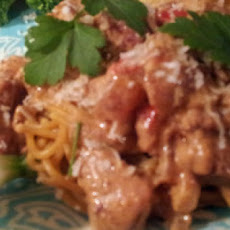 Creole Creamy Chicken and Sausage Noodles