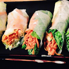 Fresh Sweet Potato Spring Rolls
