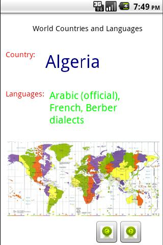 World Countries and Languages