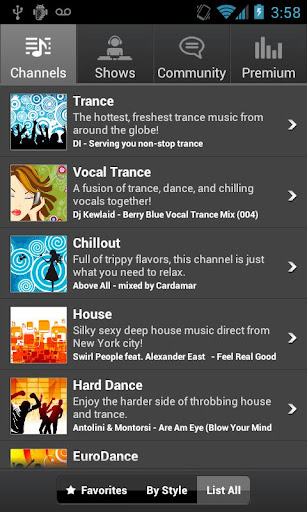 digitally-imported-radio for android screenshot