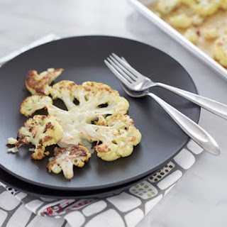 Roasted Cauliflower Steaks with Gruyère