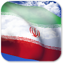 3D Iran Flag + icon