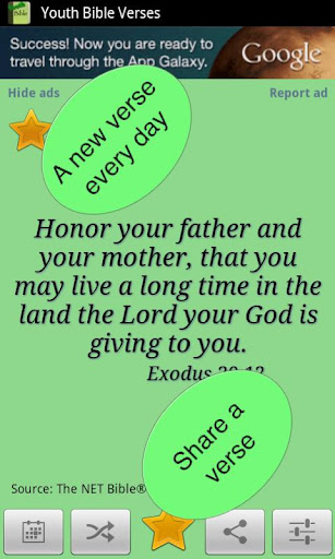 Youth Bible Verses widget