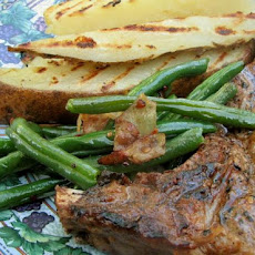 Tender Green Beans with Pancetta