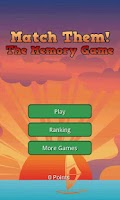 Screenshot of Match Them! Memory Game