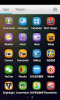 Screenshot of Colorful Turbo Launcher Theme