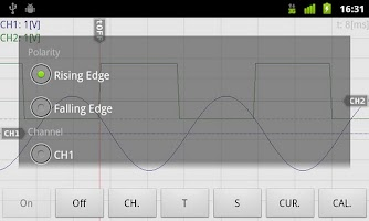 Screenshot of OsciPrime Oscilloscope Legacy