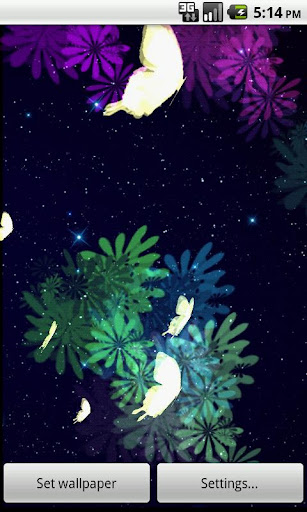 蝶ファンタジー ライブ壁紙 aButterfly