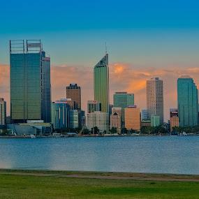perth city skyline Austrlia by Gareth Fleming - City,  Street & Park  Skylines ( #perth #oz #city #skyline #austrlia #wa,  )