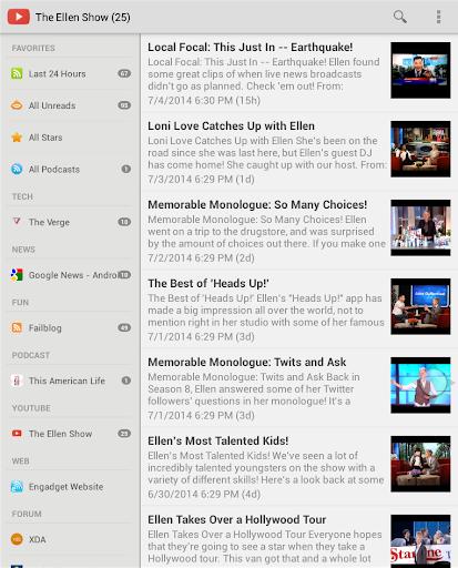 RSS Feeds Pro - screenshot