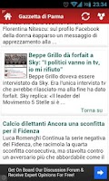 Screenshot of Tutti i Quotidiani Italiani