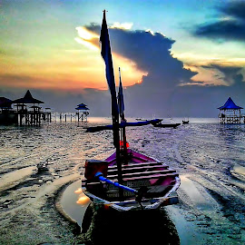 fishing boat on the beach Kenjeran by Herry (Himura Kenshin) - Instagram & Mobile Android