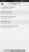 Screenshot of Infor Lawson Requisitions