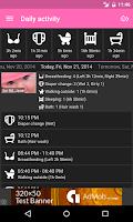 Screenshot of Baby Daybook - daily tracker