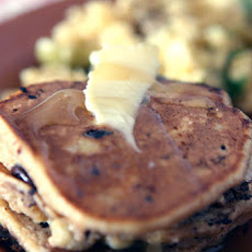 Whole Wheat Oatmeal Pancake with Chocolate and Banana