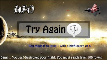Screenshot of UFO Fighter