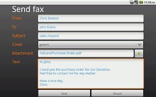Screenshot of Imagicle Fax