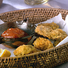 Cajun Oven-Fried Oysters With Spicy Cocktail Sauce