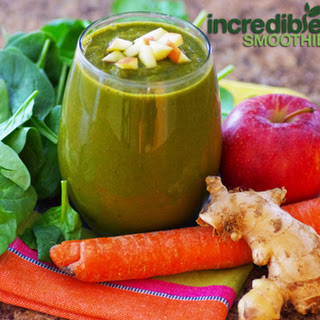 Carrot Apple Ginger Green Smoothie