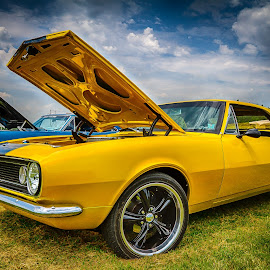 Yellow Camero by Ron Meyers - Transportation Automobiles