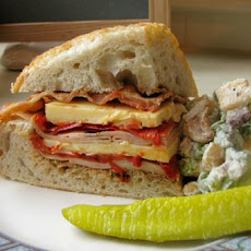 Turkey, Bacon and Havarti Sandwich