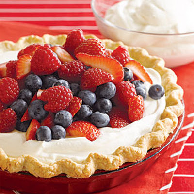 Triple Berry Cream Pie