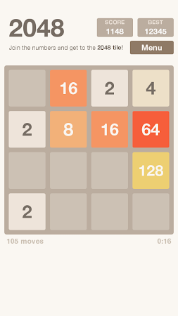 2048 number game 2.4 apk, free puzzle game apk4now