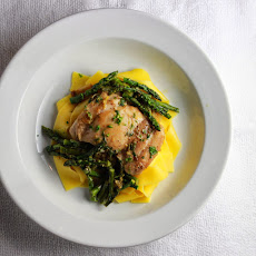 Chicken with Asparagus and Leeks