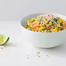 Roasted Corn with Manchego & Lime