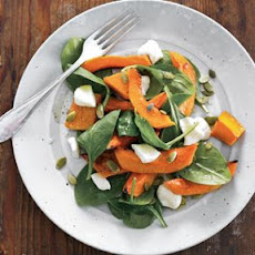 Warm Squash Salad with Teleme and Pepitas
