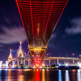 Bhumibol Bridge  by Boy Gek - Buildings & Architecture Bridges & Suspended Structures ( bhumibol bridge   bridge    buildings )