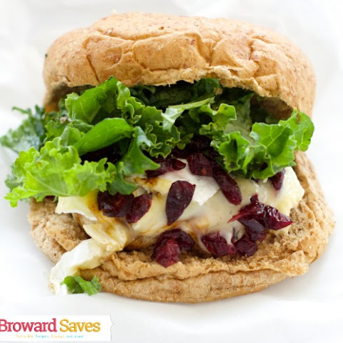 Turkey Brie & Cranberry Burger