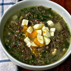 Dinner Tonight: Quinoa Chowder with Cumin, Feta, and Spinach