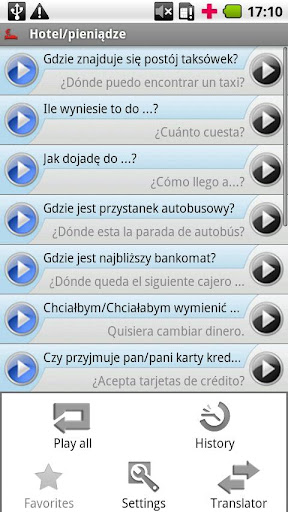 iSayHello ポーランド語 - スペイン語