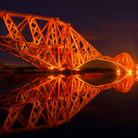 Forth Rail Bridge Landscape by Don Alexander Lumsden - Buildings & Architecture Bridges & Suspended Structures ( bridge,  )