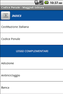 Codice Penale - screenshot