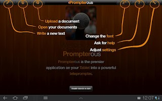 Screenshot of Prompterous