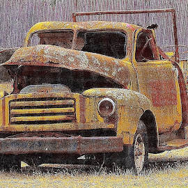 Vintage  Truck by Senka Church - Transportation Automobiles ( old, truck, vintage, rusty )