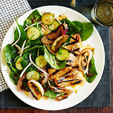 Chinese Black Pepper Pork and Spinach Salad