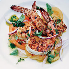 Barbecued Spiced Shrimp with Tomato Salad