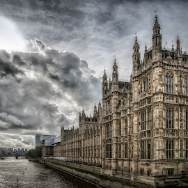 Westminster by Dobrinovphotography Dobrinov - City,  Street & Park  Historic Districts ( skyline, famous place, europe, clock, architecture, ben, history, thames river, urban scene, london - england, houses of parliament - london, england, tower, summer, westminster, bridge, government, construction, panoramic, large, abbey, river )